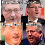 Colour of Sammy Wilson's face to be used for weather warnings