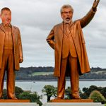 "Artist creates statues of local politicians ""just so we can buck them in a river"""